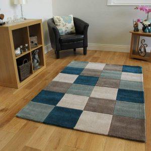 alfombra de cuadros