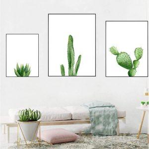 poster minimalista de cactus