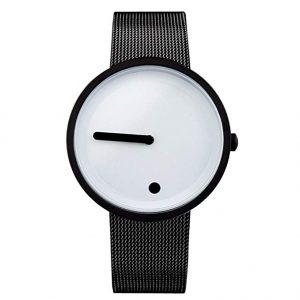 Reloj negro y blanco