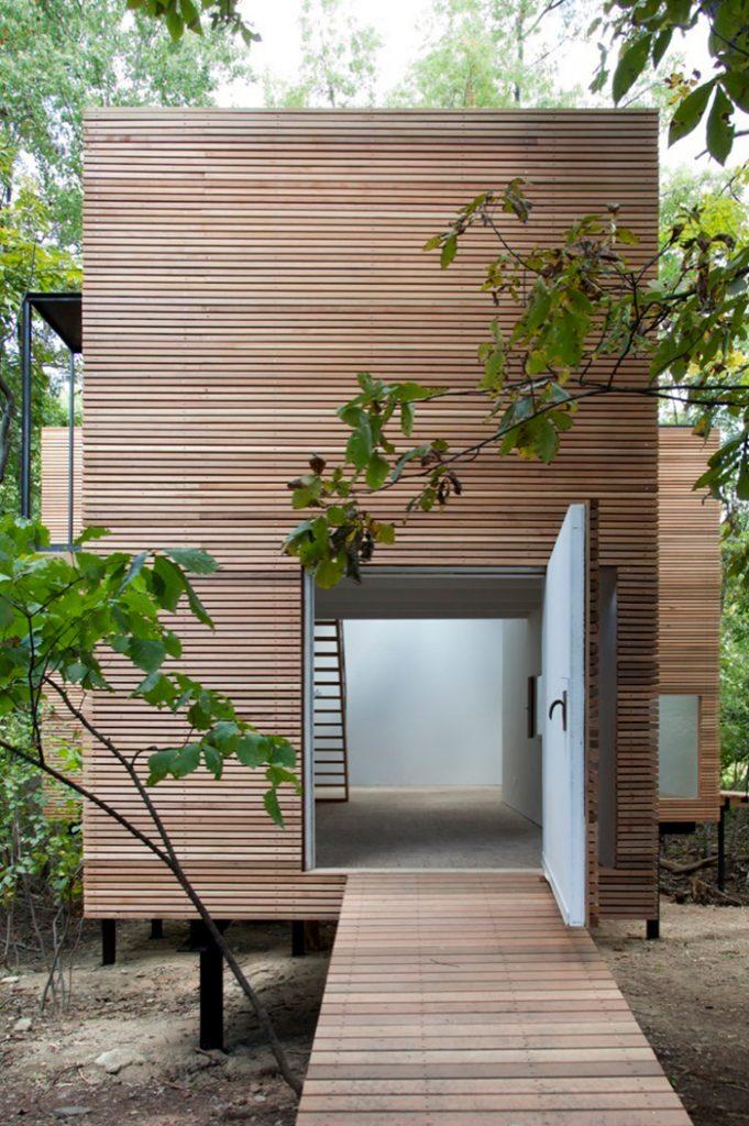 casa minimalista madera